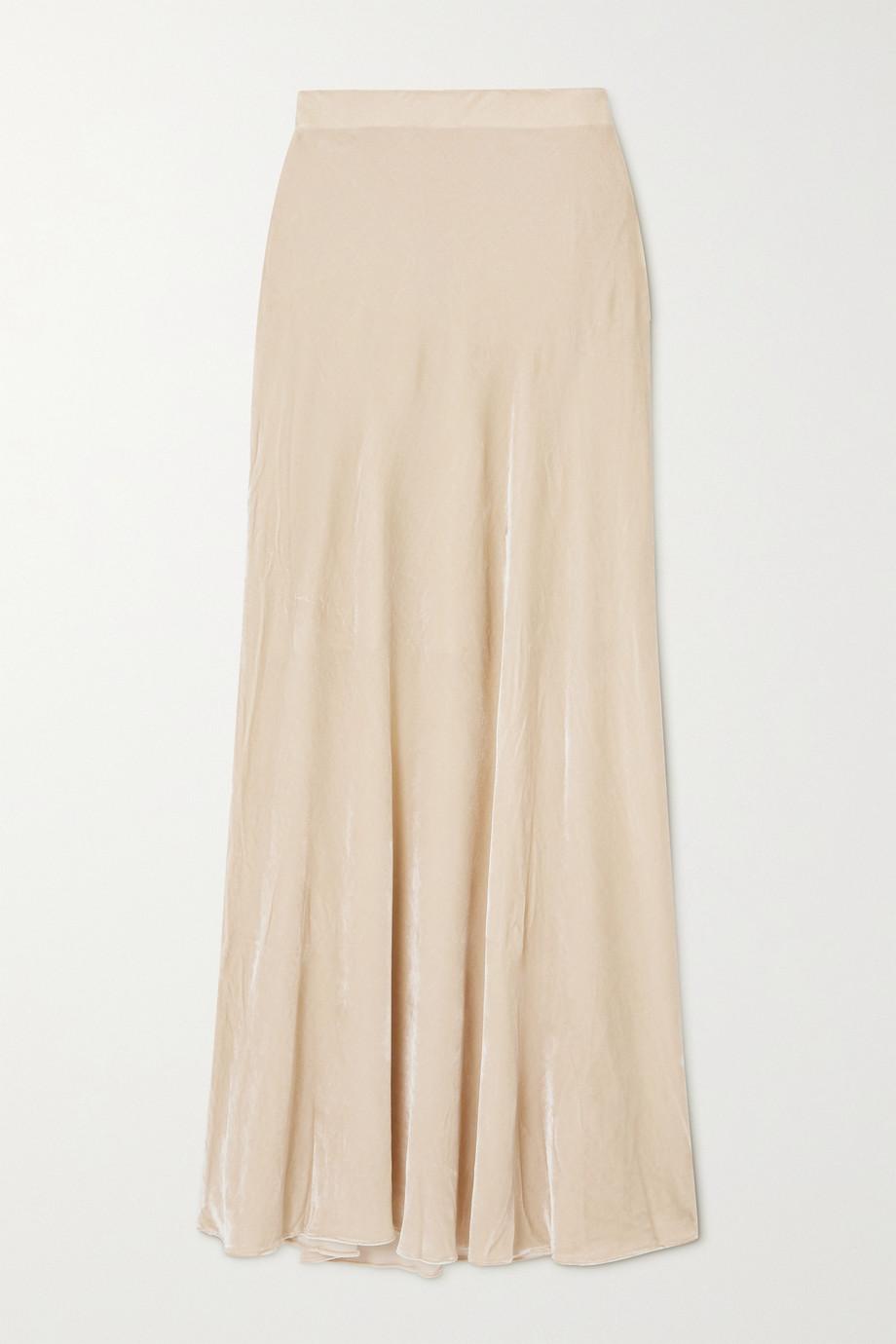 Sleeping with Jacques Bianca velvet maxi skirt