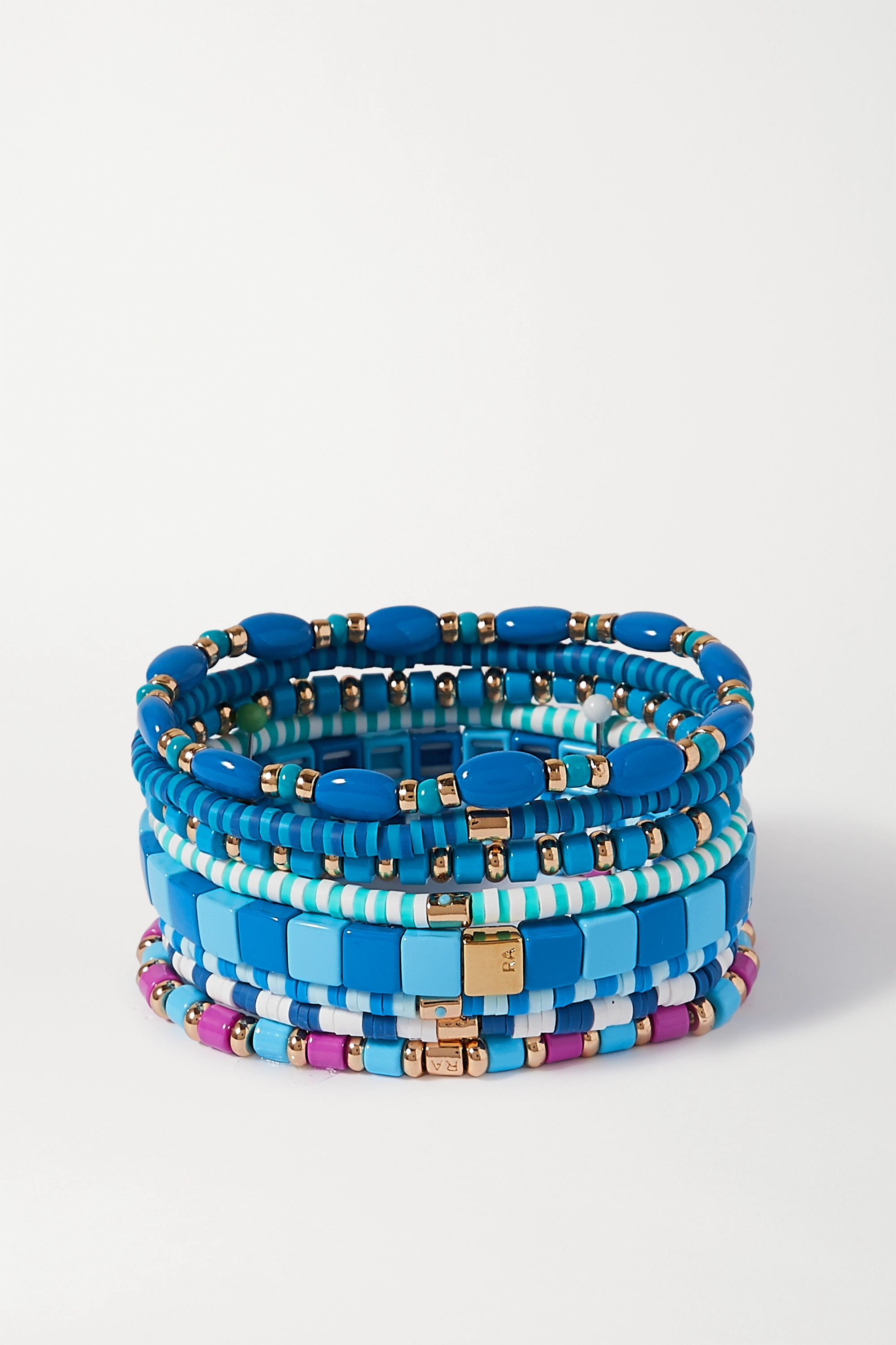 Roxanne Assoulin Colour Therapy set of eight enamel and gold-tone bracelets