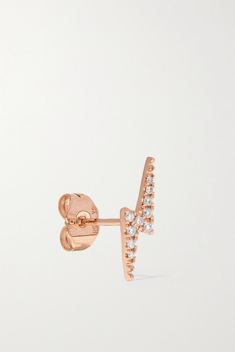 MARIA TASH Lightning Bolt 18-karat rose gold diamond earring