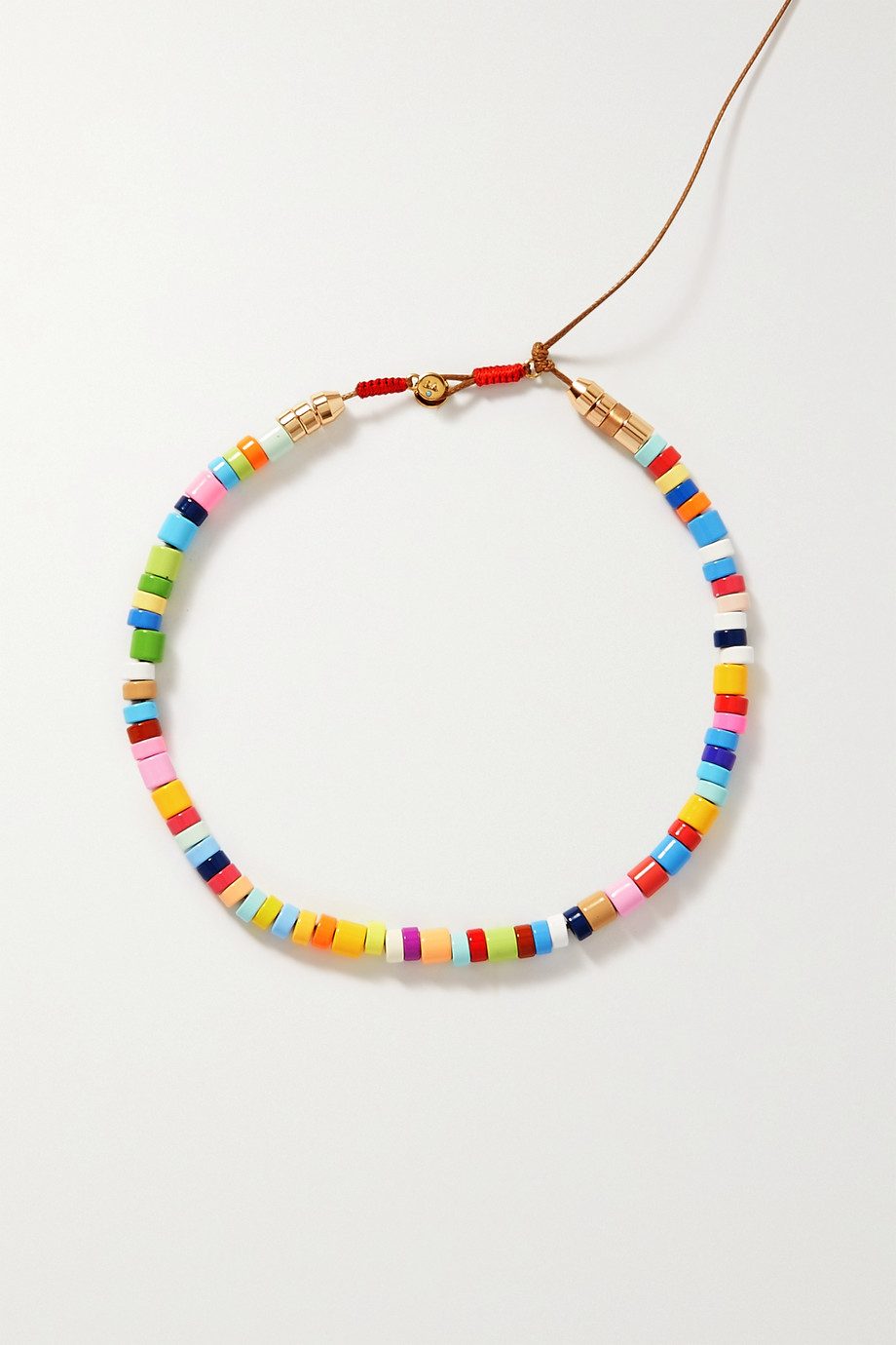 Roxanne Assoulin Candy DIY cord, enamel and gold-tone necklace kit