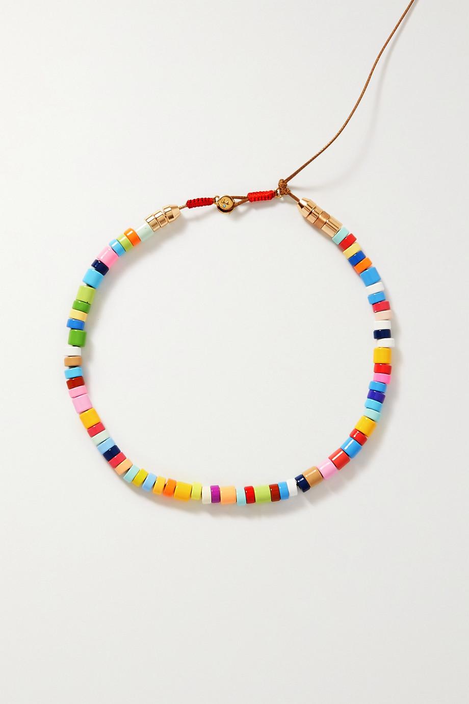 Roxanne Assoulin Candy Kettenset mit Kordel, Emaille und goldfarbenen Details