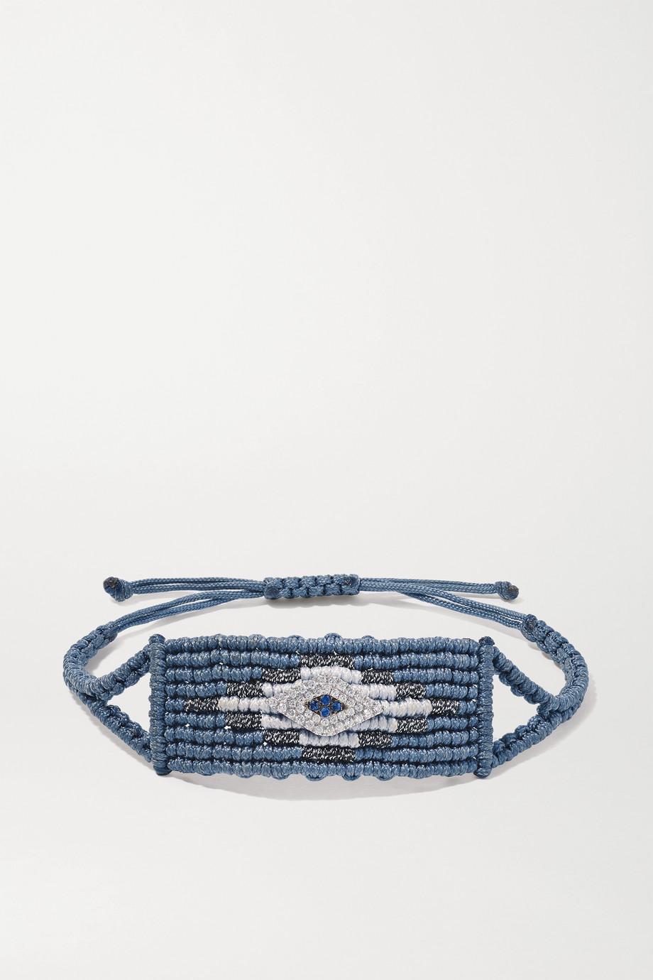Diane Kordas Evil Eye 钻石、蓝宝石、编织手绳
