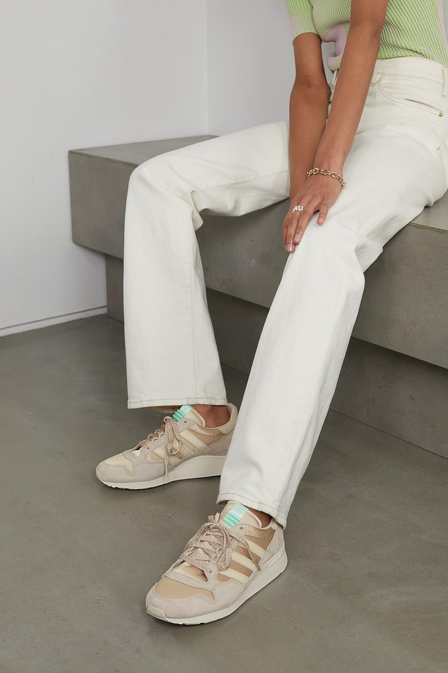 adidas Originals ZX 500 W Sneakers aus Satin und Veloursleder mit Lederbesätzen