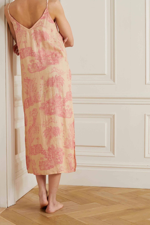 Desmond & Dempsey Printed linen nightdress