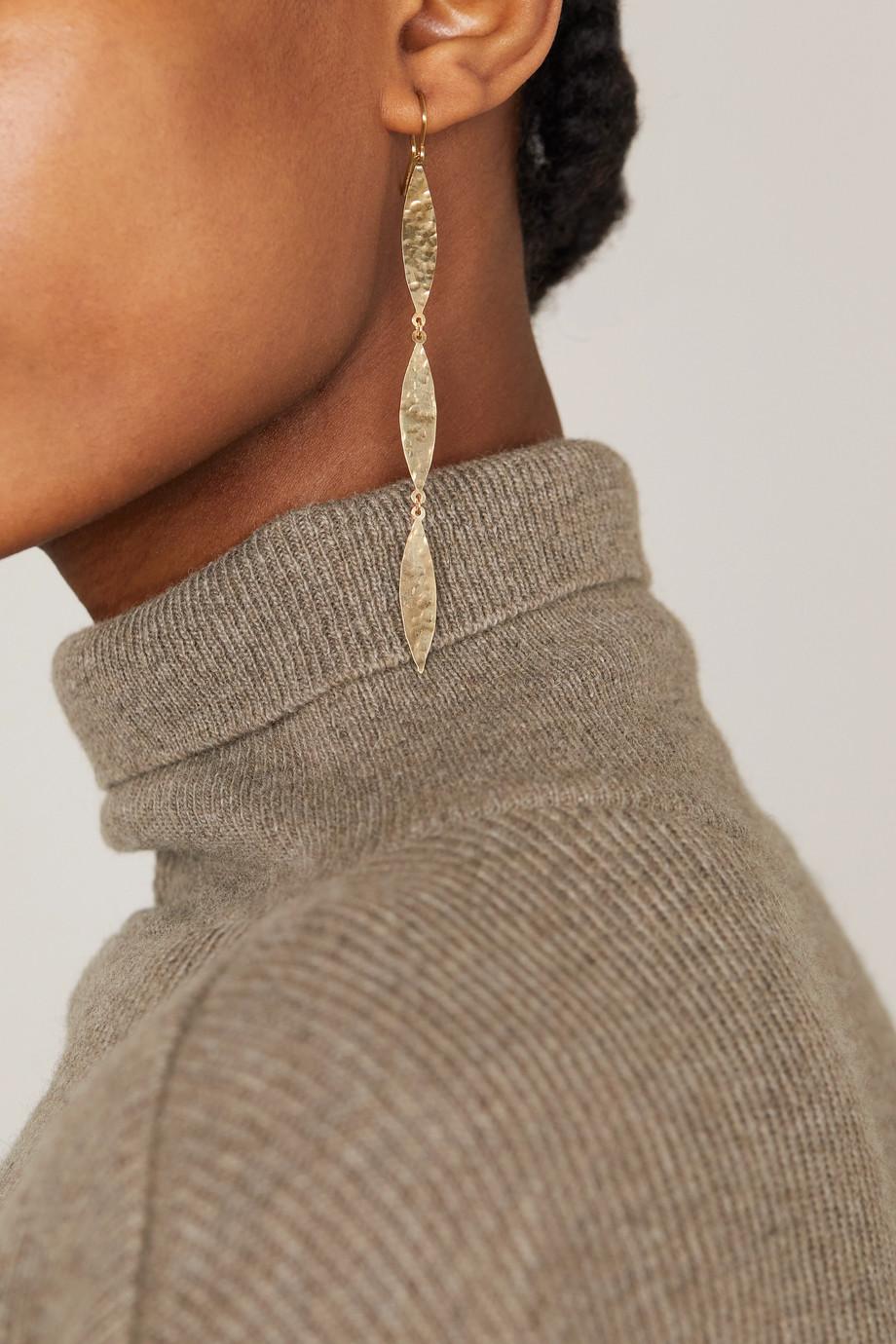Jennifer Meyer Hammered 18-karat gold earrings