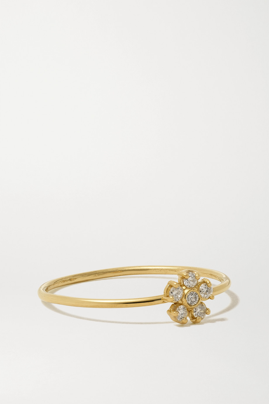 Jennifer Meyer Flower 18-karat gold diamond ring