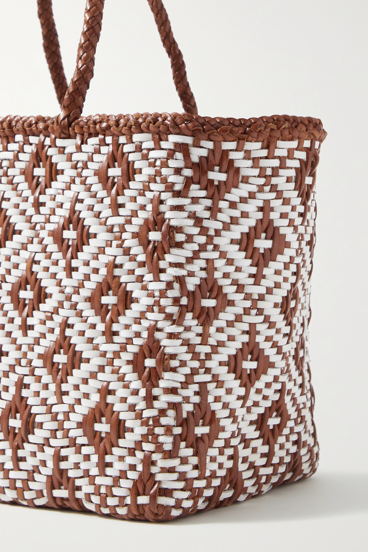 Dragon Diffusion Kumari small woven leather tote