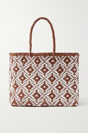 Dragon Diffusion Kumari small woven leather tote