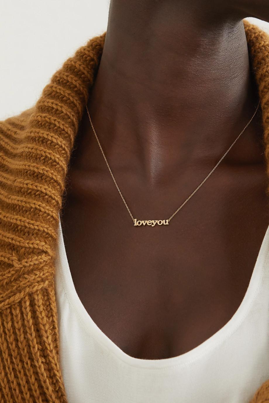 Jennifer Meyer Love You 18-karat gold necklace