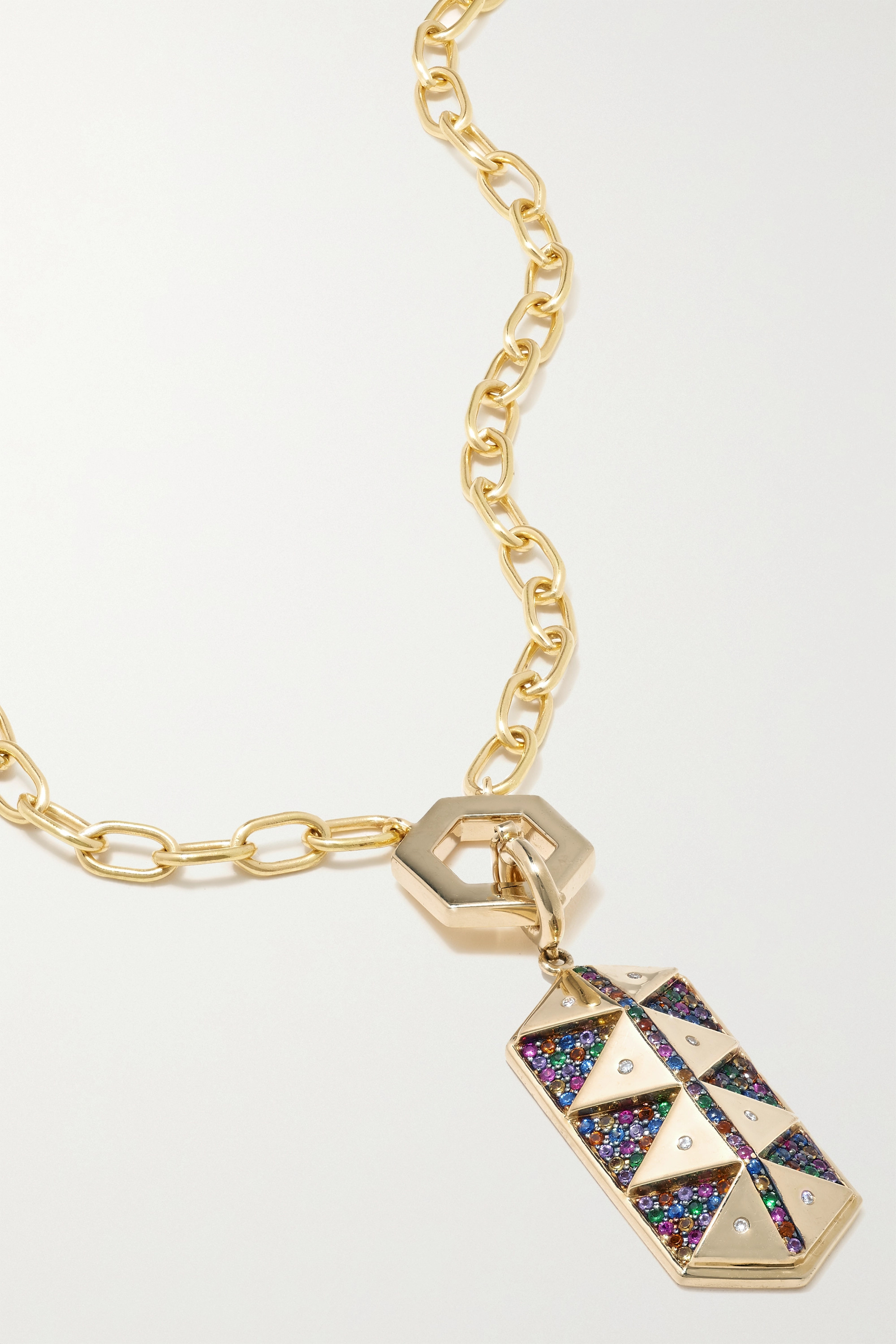 Harwell Godfrey 18-karat gold multi-stone necklace