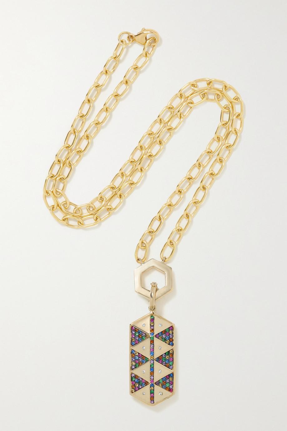 Harwell Godfrey 18-karat gold multi-stone necklace