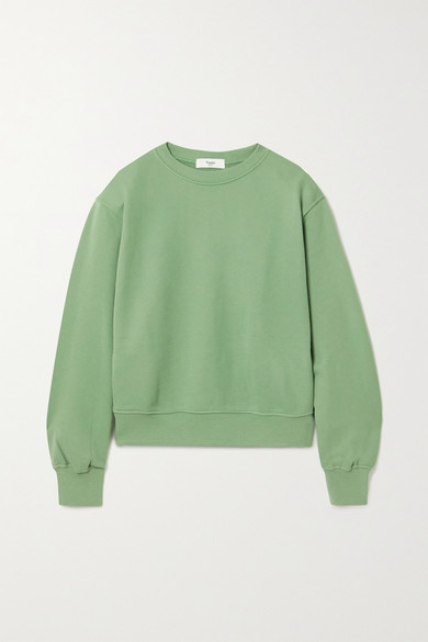 Frankie Shop - Vanessa Cotton-jersey Sweatshirt - Leaf green