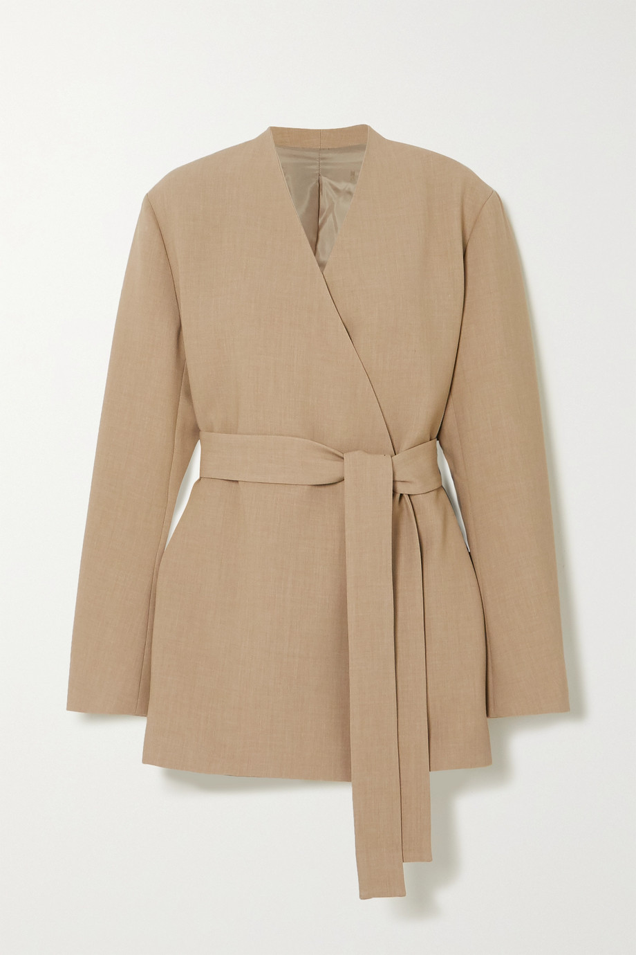 Frankie Shop 大廓形配腰带梭织西装外套