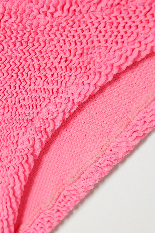 Hunza G  + NET SUSTAIN Nancy one-shoulder seersucker bikini