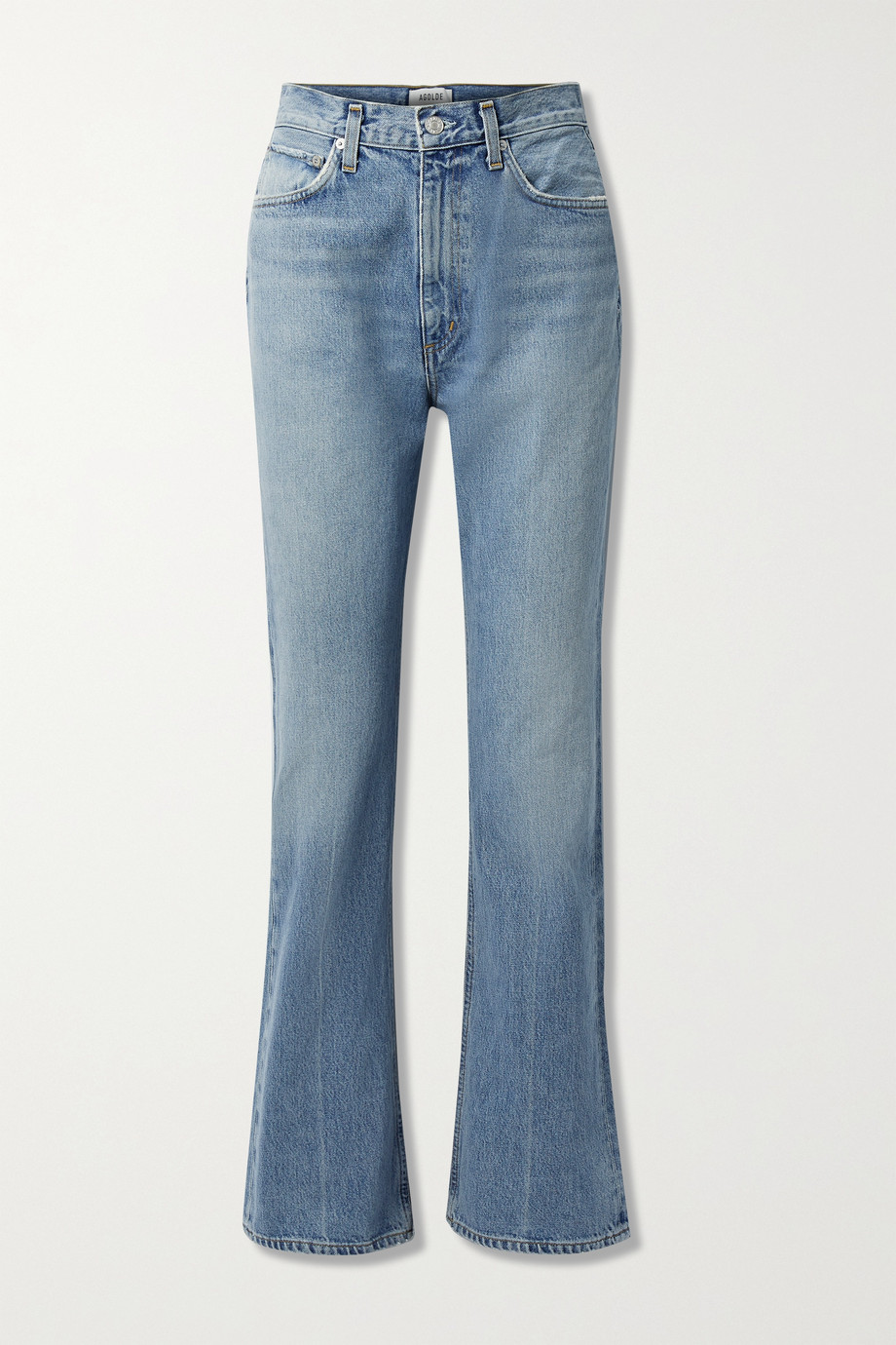 AGOLDE Organic high-rise flared jeans