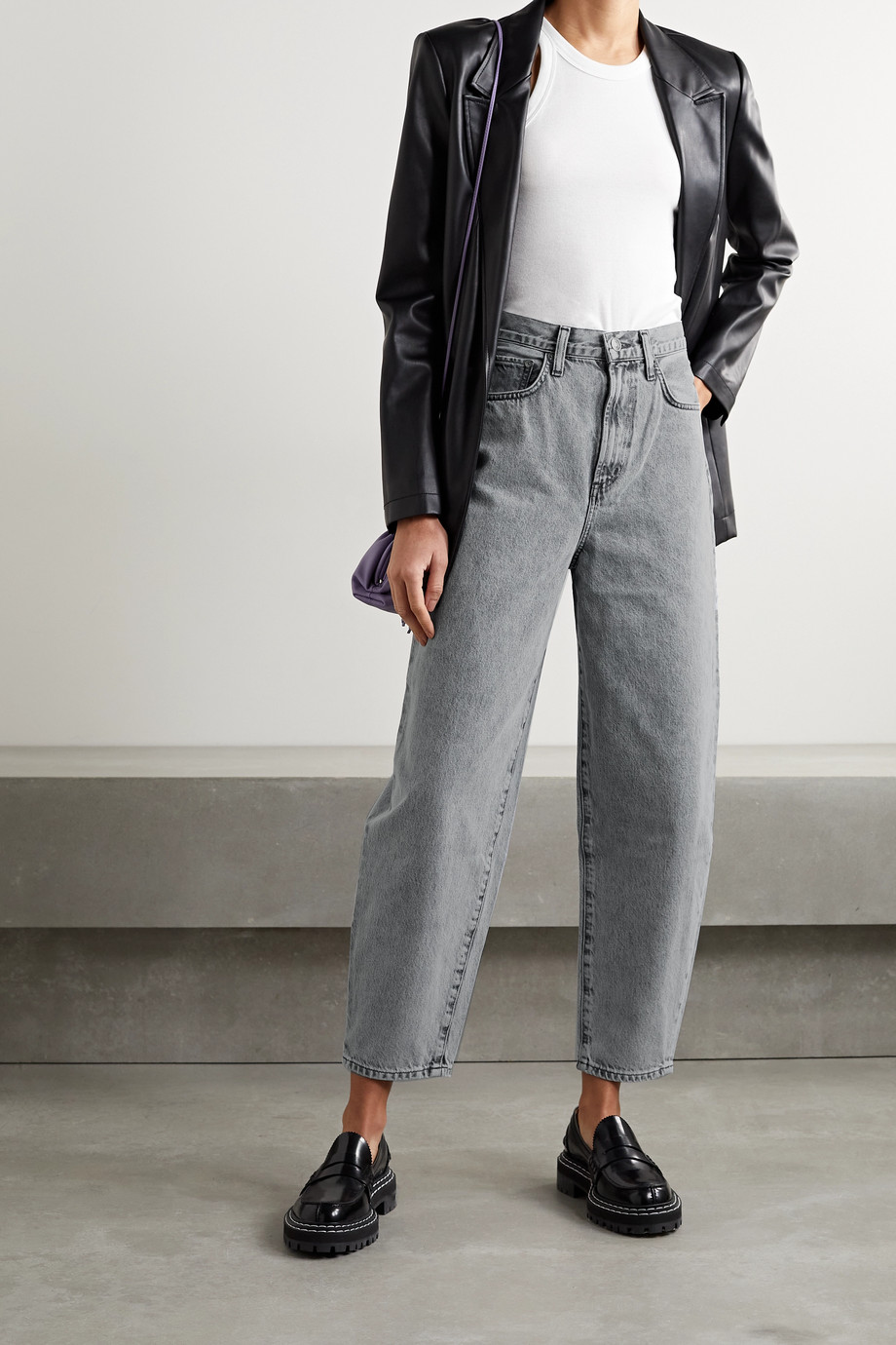 AGOLDE + NET SUSTAIN Balloon high-rise tapered jeans