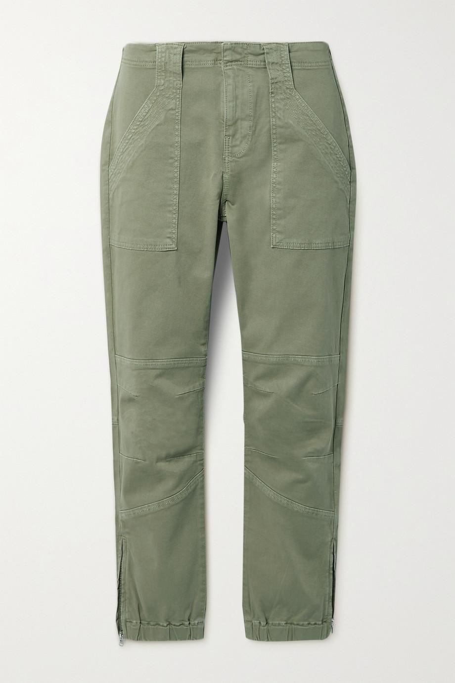 FRAME Pantalon fuselé en serge de coton stretch
