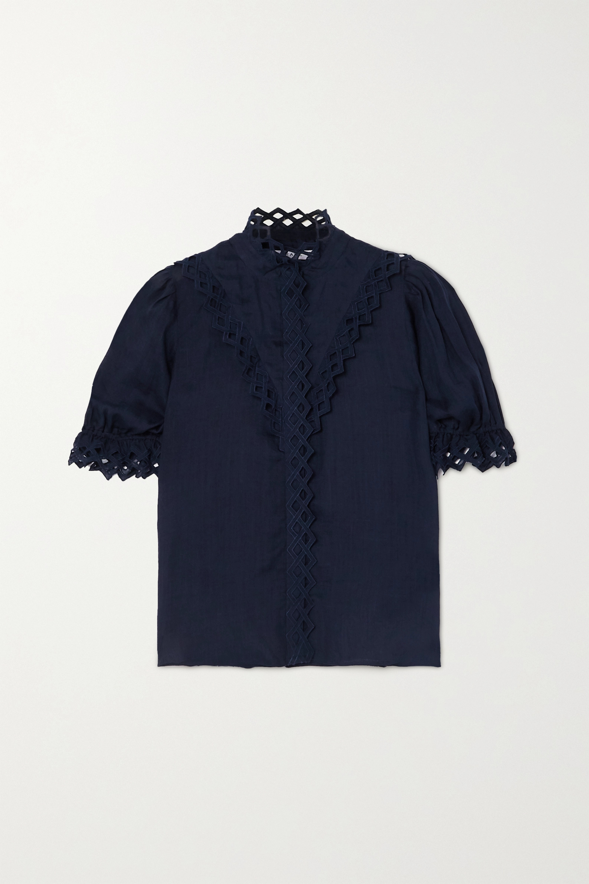 Frame EMBROIDERED RAMIE BLOUSE