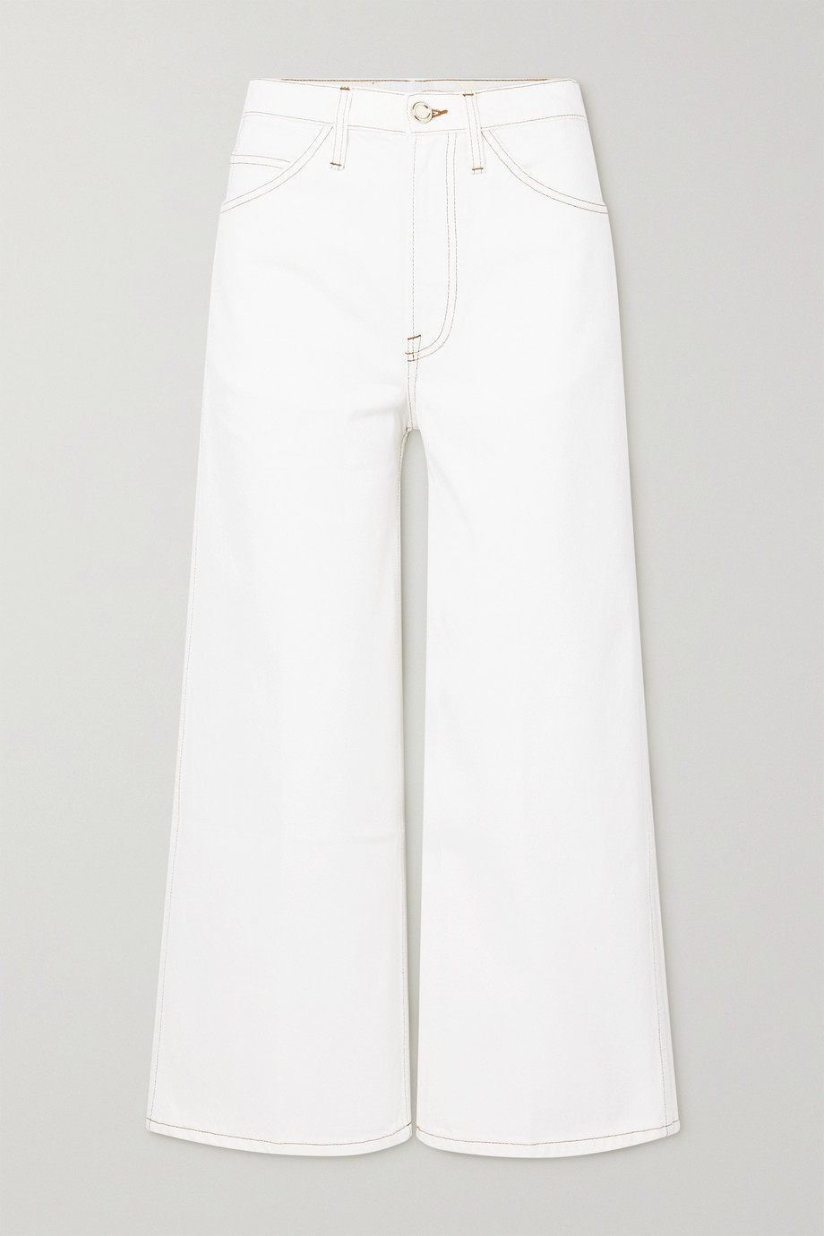 FRAME Le Italien cropped high-rise wide-leg jeans