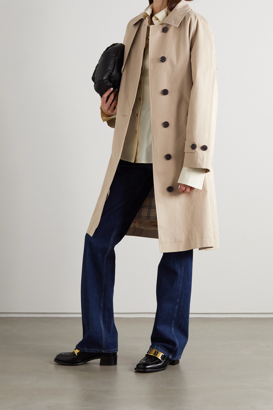 FRAME Cotton-twill trench coat