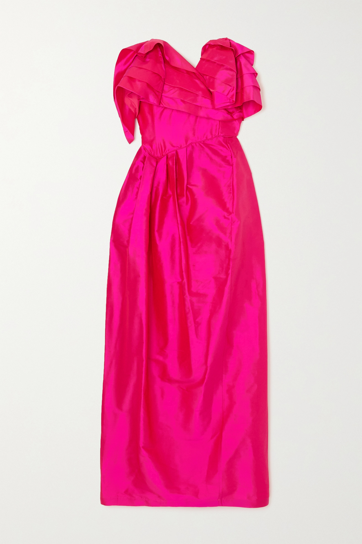 Preen by Thornton Bregazzi - Zita strapless ruffled silk-taffeta dress