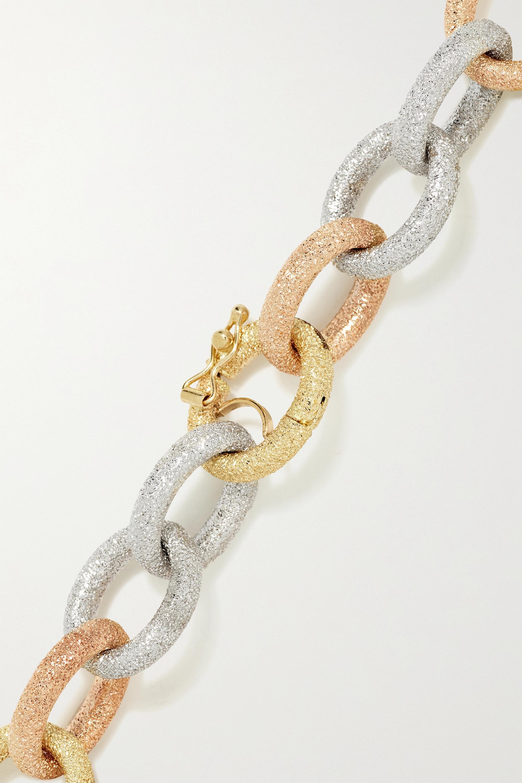 Carolina Bucci Florentine 18-karat yellow, rose and white gold bracelet