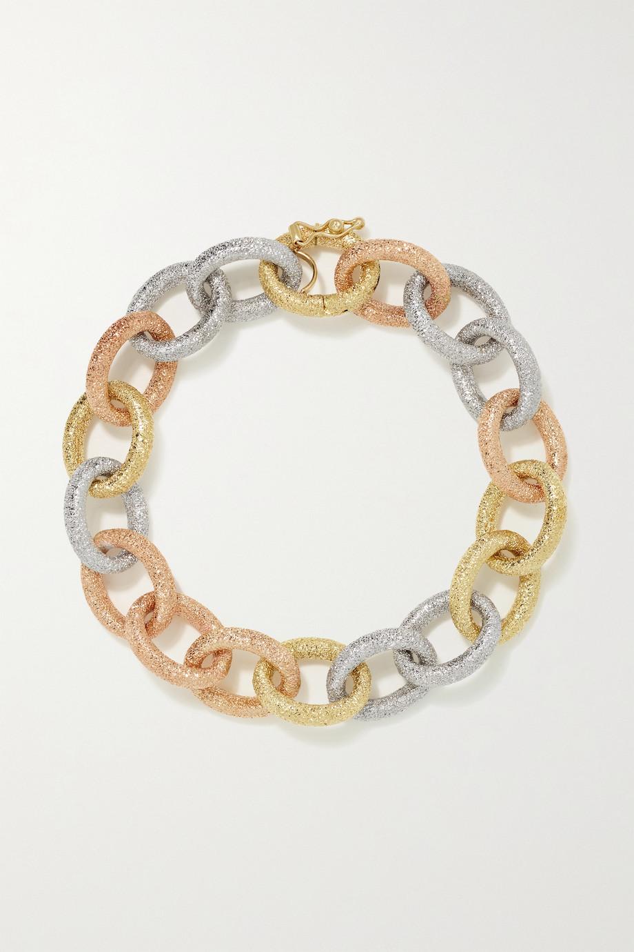 Carolina Bucci Bracelet en or jaune, rose et blanc 18 carats Florentine