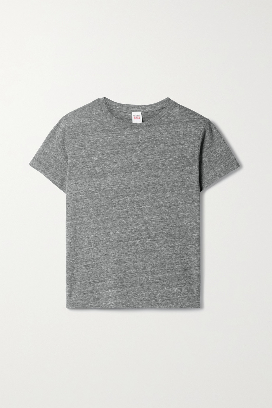RE/DONE T-shirt en jersey flammé Classic x Hanes - NET SUSTAIN