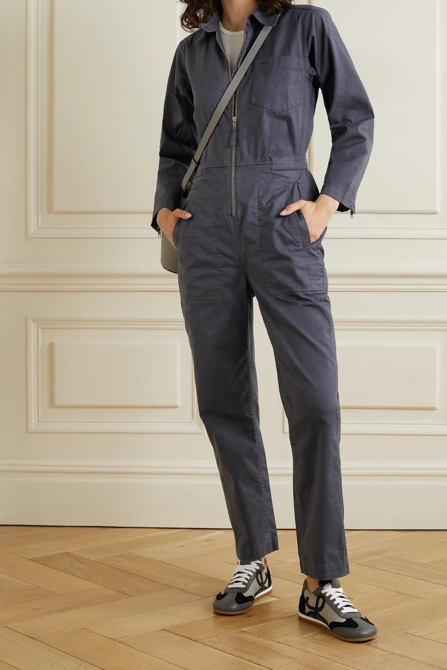Alex Mill Combi-pantalon en serge de coton mélangé Judd