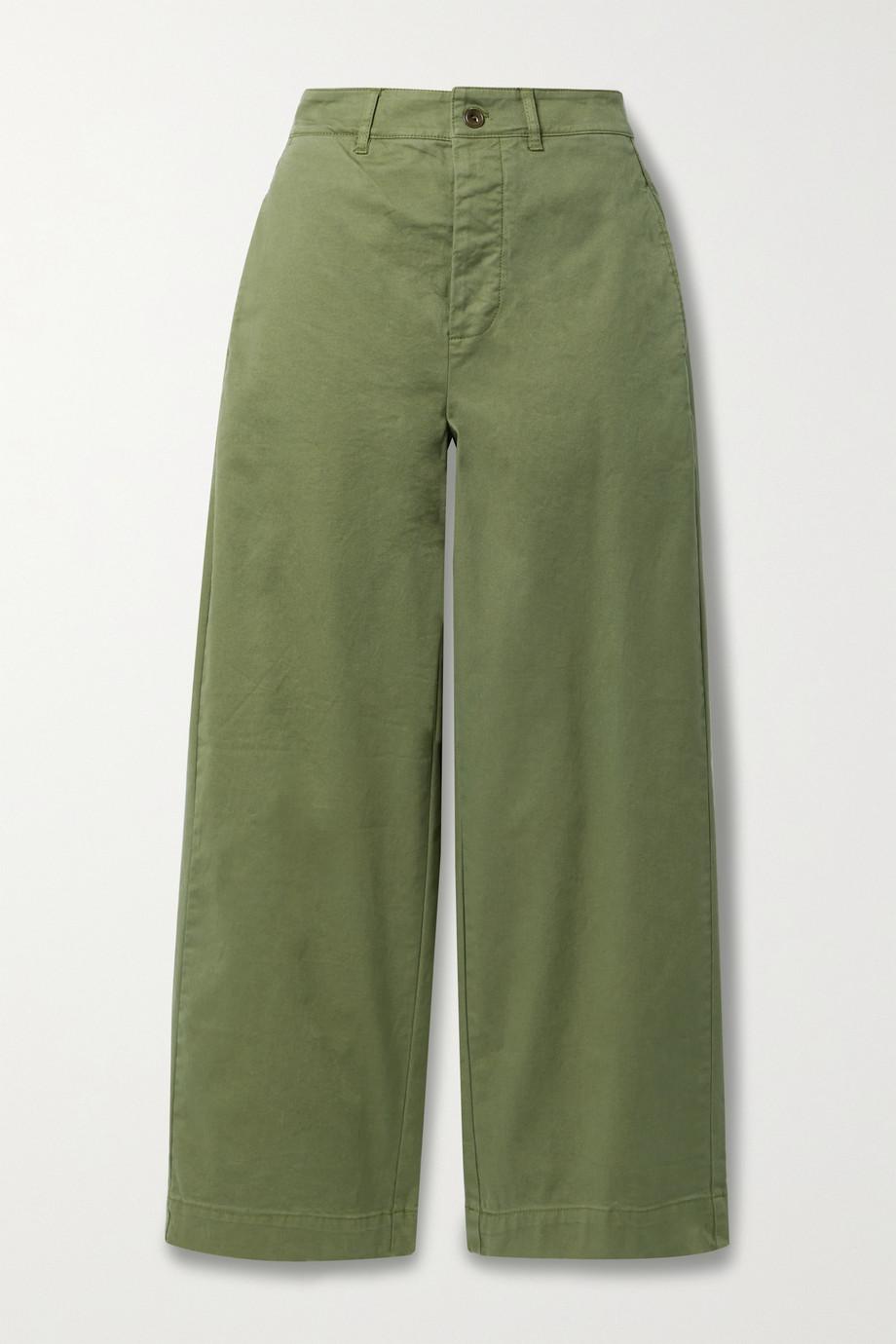 Alex Mill Gene cotton-blend twill wide-leg pants