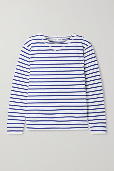Alex Mill Shirts LAKESIDE STRIPED COTTON-JERSEY TOP