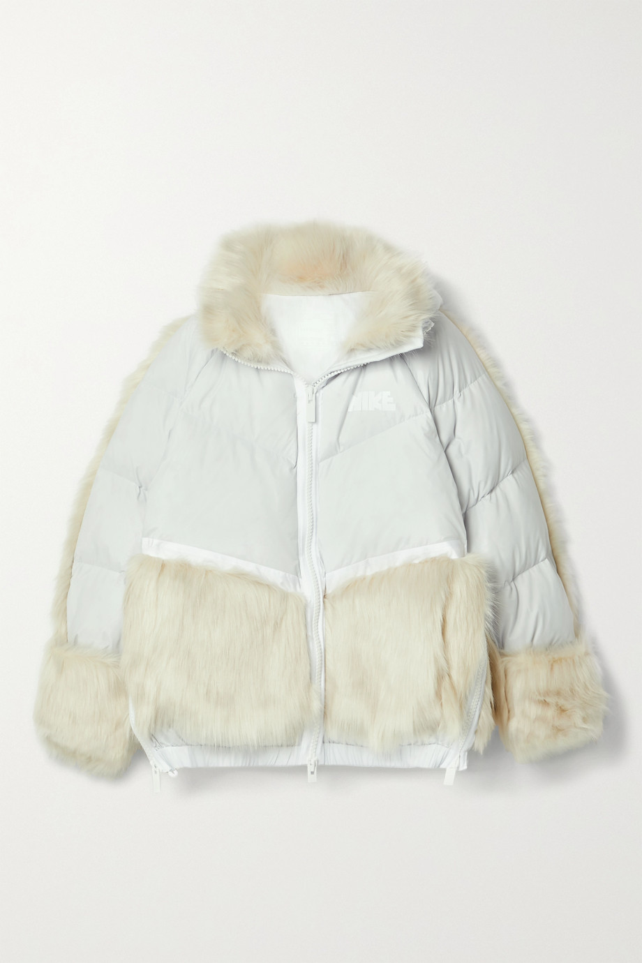 + Sacai NRG oversized hooded faux fur and quilted shell down jacket by Net-a-porter, available on net-a-porter.com for $600 Kylie Jenner Outerwear SIMILAR PRODUCT