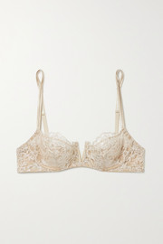 I.D. Sarrieri In The Mood For Love metallic corded lace, tulle and satin underwired soft-cup bra
