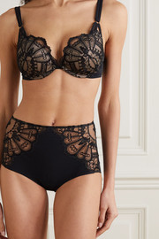 I.D. Sarrieri Embroidered tulle and strech-jersey briefs