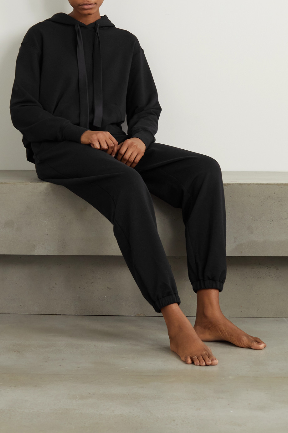 I.D. Sarrieri Break of Dawn satin-trimmed cotton-blend jersey track pants