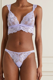 I.D. Sarrieri Valerie stretch-lace and tulle soft-cup triangle bra