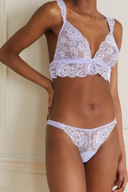 I.D. Sarrieri Valerie stretch-lace and tulle briefs