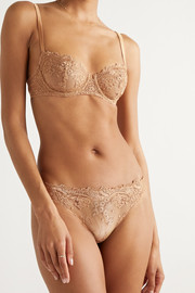 I.D. Sarrieri Colette embroidered stretch-tulle briefs