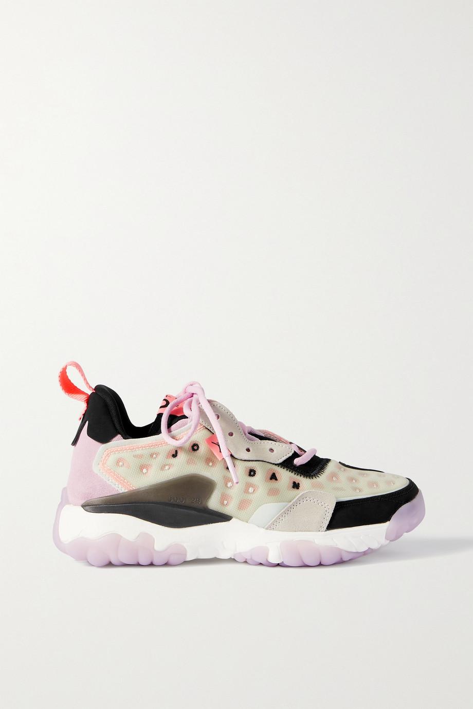 Nike Baskets en daim et en résille à finitions en caoutchouc Jordan Delta 2