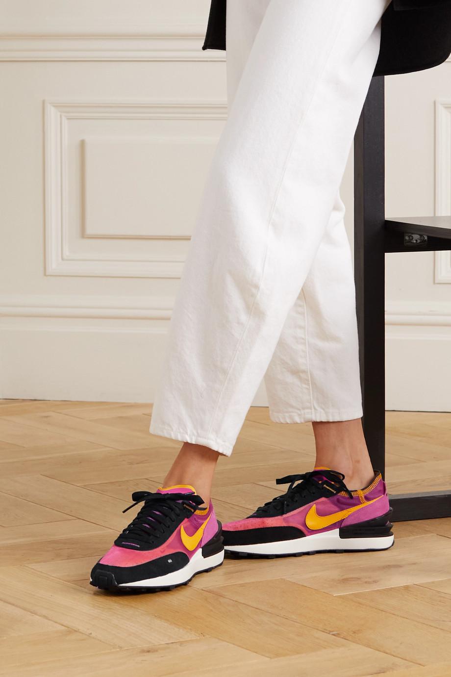 Nike Baskets en résille, daim et cuir Waffle One