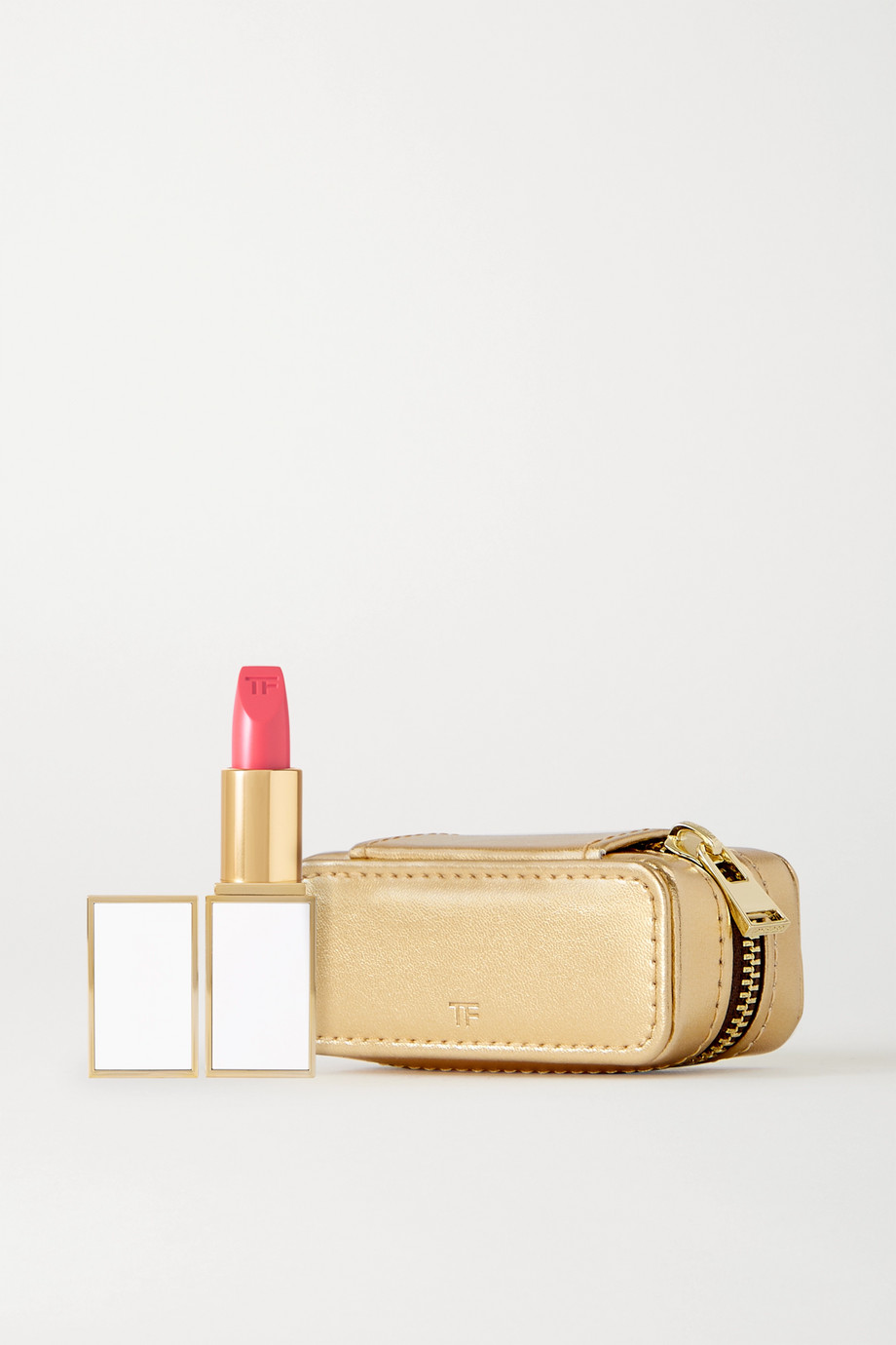 TOM FORD BEAUTY Lip Color Sheer and Metallic Leather Case Set – Paradiso – Set aus Lippenstift und Etui