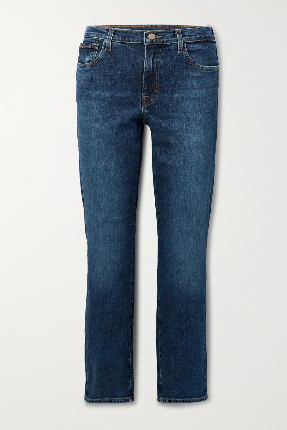 J Brand Adele mid-rise straight-leg jeans