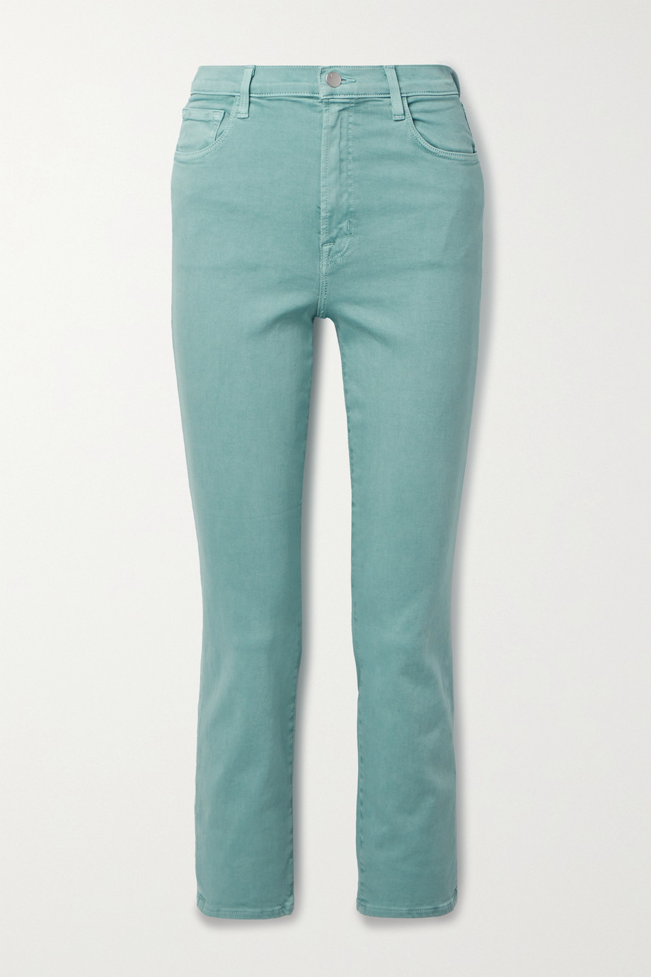 J Brand Alma cropped high-rise straight-leg jeans