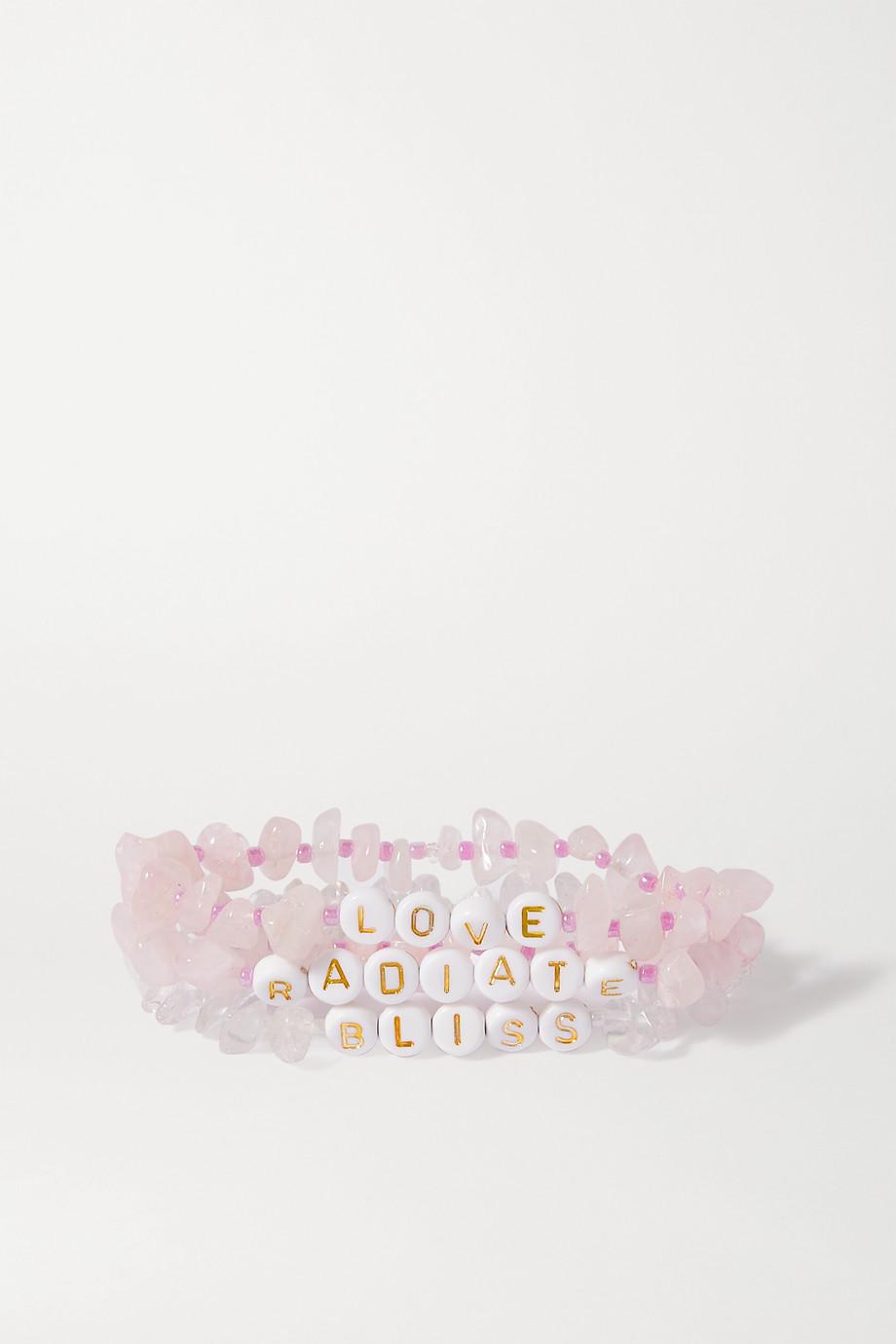 TBalance Crystals Set aus drei Armbändern mit Quarzen und Emaille
