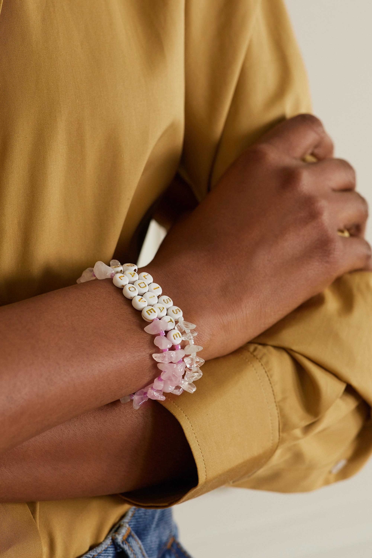 TBalance Crystals Set of three quartz and enamel bracelets