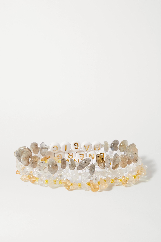 TBalance Crystals Set of three multi-stone and enamel bracelets