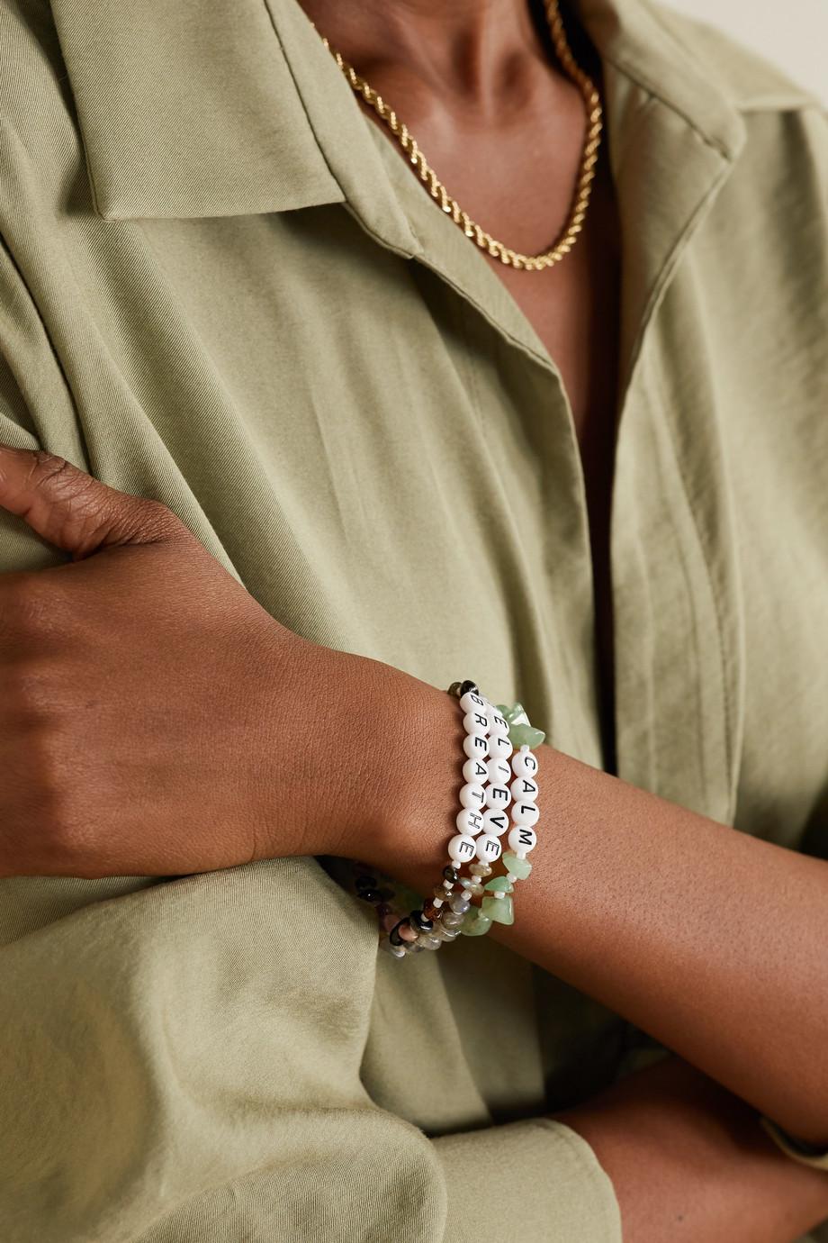 TBalance Crystals Set aus drei Armbändern mit mehreren Steinen und Emaille