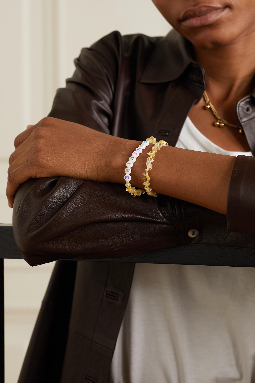TBalance Crystals Set of two citrine and enamel bracelets