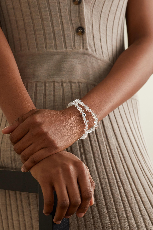 TBalance Crystals Set de deux bracelets en quartz et émail
