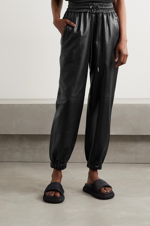 Alexander Wang Leather track pants